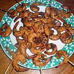recette apéritif dinatoire brochettes de crevettes