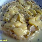 recette Tatin de pommes au camembert