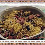 recette Fettuccinis aux champignons, lardons et comté rappé