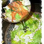 """recette Salade Nivôse -  Salade composée  sur lit de laitue """"d'après fête """""""