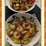 recette Crevettes aux mangues, gingembre et citronelle