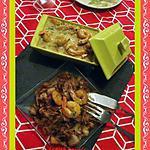 recette Curry de crevettes au lait de coco et chou chinois sauté au soja
