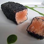 recette Saumon en habit noir et sa sauce verte