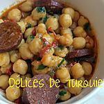recette Pois chiches au sucuk turc (ou chorizo)