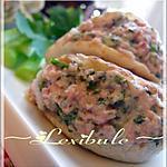 Mini-pitas à la salade de jambon