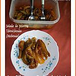 recette SALADE DE POIVRONS (TCHOUTCHOUKA, MECHOUIA, JUIVE...) recette familiale
