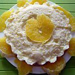 recette Couronne de semoule à l'orange