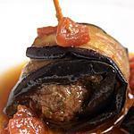 recette Rouleaux d'aubergines au boeuf