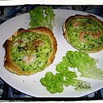 Gratin de crabe et gambas  ( en feuilleté dans coquilles st jacques )