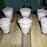 recette verrine de crème a la pate d'amande