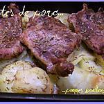 recette Côtes de porc & pommes boulangère