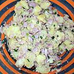 recette salade pomme de terre au jambon,thon  et a la ciboulette