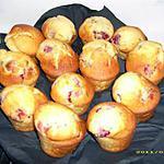 recette muffins aux framboises et à la menthe