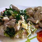 recette Curry vert de poulet aux petits poireaux