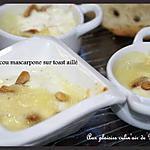 recette MINI-COCOTTE CABECOU/MASCARPONE ET SON PAIN AILLE