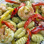 recette Gnocchis au pesto et crevettes sautées