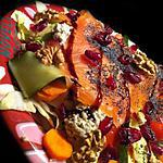 cranberries : recette Detox salad:  Avocat, Saumon & Cranberries !