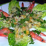 recette Salade exotique  crabe, crevettes, mangue et coco
