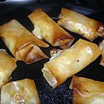 recette feuille de brick au poulet et fromage bleu