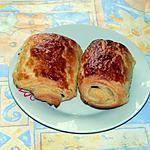 recette Petits pains feuilletés au chocolat