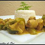 recette Porc en sauce paprika et poivron vert