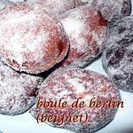 recette boule de berlin ( beignet)