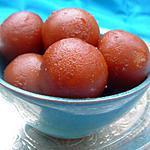 recette Recette de dessert indien les Gulab jamun