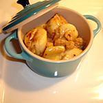 recette Ma cassolette de St Jacques Curry Crevettes