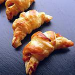 recette Mini-croissants potimarron, noisettes & fourme d'ambert