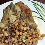 recette Poitrine de veau et légumes secs
