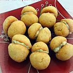 recette Baci di dama salés au roquefort, ricotta & piment d'Espelette