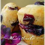 Muffins au coeur de philadelphia et aux bleuets