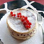 recette Millefeuille de crêpes soufflées aux perles de groseilles
