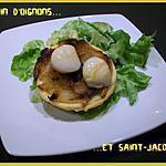 recette Tatin d'oignons et saint-jacques