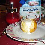 recette pommes au four a la créme