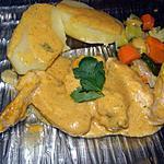 recette ail de poulet sauce légume et sa pomme de terre