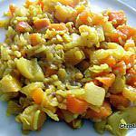 recette Poêlée de riz aux légumes racines et lentilles roses