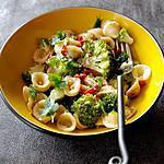 recette Orecchiette au brocoli, anchois et piment oiseau