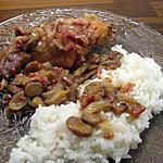 recette Lapin aux champignons et petits lardons ou la recette de ma grand mère
