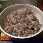 recette Rognons de veau flambé Bauge