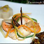 recette Noix de Saint-Jacques à la verveine citronnée et vanille