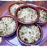 recette Cassolettes de chou romanesco  au poulet