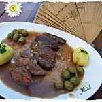 recette Magrets de canard gras aux olives