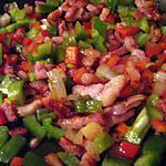 Poelé de légumes aux lardons.