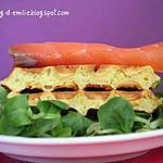 recette Gaufres au parmesan et au saumon fumé