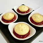 recette Petites bouchées au citron et sa confiture de fraises