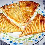 recette Feuilleter au fromage-jambon-creme fraiche