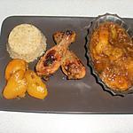 recette Poulet au abricot et son quinoa royale