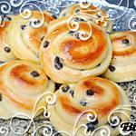 recette Escargots briochés à la crème pâtissière et pépites de chocolat