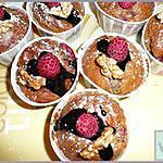 recette muffins aux framboises et aux noix